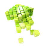 Arrow icon made of cubes isolated Royalty Free Stock Photography