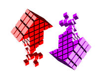 Arrow icon made of cubes Stock Photo