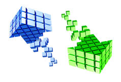 Arrow icon made of cubes Royalty Free Stock Image
