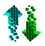 Arrow icon made of cubes Stock Photography