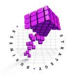 Arrow icon made of cubes Stock Photos