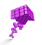 Arrow icon made of cubes Stock Image