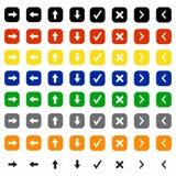 Arrow icon set Royalty Free Stock Images