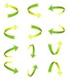Arrow icon set. Green design Stock Photo