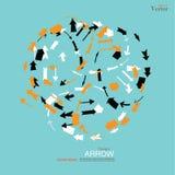 Arrow icon set.arrow design.  arrow . Royalty Free Stock Photography