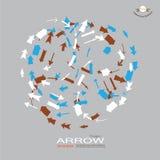 Arrow icon set Stock Photos