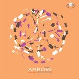 Arrow icon set Stock Image