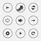 Arrow icon set pointer  illustration internet web button design Stock Image