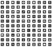 Arrow icon set, rounded square Stock Photo