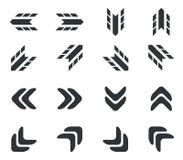 Arrow icon set 2, simple Stock Photo