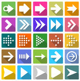 25 arrow icon set . Royalty Free Stock Images