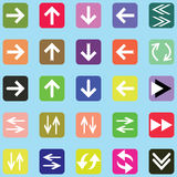 Arrow icon set. Vector background & Arrow icon set Royalty Free Stock Photography