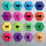 Arrow icon set. Vector. Stock Photography
