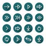 Arrow icon set Royalty Free Stock Images
