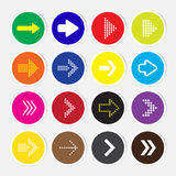 Arrow icon set. Vector Stock Photos