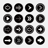 Arrow icon set. Vector Stock Photography
