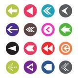 Arrow icon set. Web arrow pictogram design. Internet elements symbols. Navigation previous right and left signs.  Stock Photo