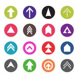 Arrow icon set. Web arrow pictogram design. Internet elements symbols. Navigation previous right and left signs.  Royalty Free Stock Photo