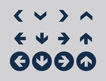 Arrow icon sets royalty free stock photo