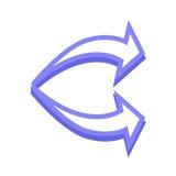 Arrow icon. Simple arrow icon with color Royalty Free Stock Photo