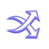 Arrow icon. Simple arrow icon with color Stock Photo