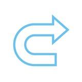 Arrow icon. Simple arrow icon with color Royalty Free Stock Image