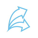 Arrow icon. Simple arrow icon with color Stock Images