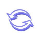 Arrow icon. Simple arrow icon with color Stock Photos