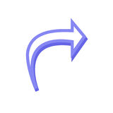Arrow icon. Simple arrow icon with color Stock Photography