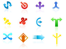 Arrow icon vectors Royalty Free Stock Photos