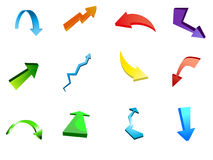 Arrow icon vectors Stock Image