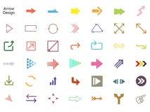 Arrow icon set stock illustration