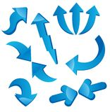 Arrow icons Royalty Free Stock Photography