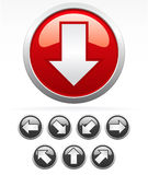 Arrow Icons. Nice, sharp orbs with arrows pointing to 45° directions - to all major directions Stock Photography