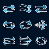Arrow icons. Stock Photos