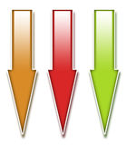 ARROW ICONS 3D Royalty Free Stock Image