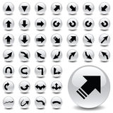 Arrow icons Royalty Free Stock Photos