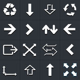 Arrow icons design set Stock Images