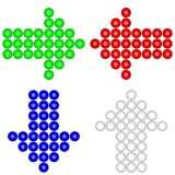 Arrow icons made of spheres Stock Photography
