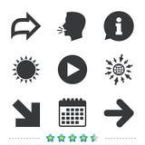 Arrow icons. Next navigation signs symbols. Royalty Free Stock Photography