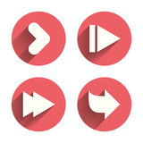 Arrow icons. Next navigation signs symbols Royalty Free Stock Photography