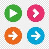 Arrow icons. Next navigation signs symbols. Stock Photography