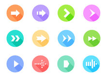 Arrow icons pack. Vector Illustration Stock Images
