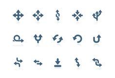 Arrow icons   piccolo series Stock Photo