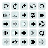 Arrow icons. Set of 25 arrow icons Royalty Free Stock Photography