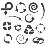 Arrow icons set collections. stock illustration
