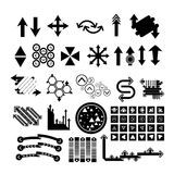 Arrow icons set collections. black symbols Stock Images