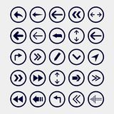 Arrow icons  set. Direction arrows icons Royalty Free Stock Images