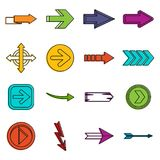 Arrow icons doodle set Royalty Free Stock Image