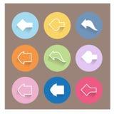 Arrow icons set. Flat design Stock Photo